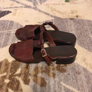 Shoes - Vintage Brown Clogs